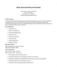 Sales Resume Example by Retail Sales Associate Resume Example