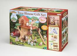 rabbit treehouse sylvanian families tree house gift set with and rosi 3352