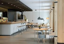 Restaurant Kitchen Floor Plans Stylish Pendant Lamp And Bamboo Floor Combined With Successful