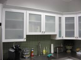 Kitchen Cabinet Door Materials White Kitchen Cabinets With Frosted Glass Doors Shayla U0027s Loft