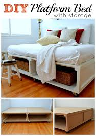 Queen Platform Bed With Drawers Plans by Diy Platform Bed With Storage Diy Platform Bed Platform Beds