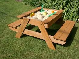 wooden childrens picnic table how to build a kids picnic table and sandbox combo diy projects