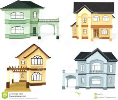 two storey house two storey house set stock vector image 70982179