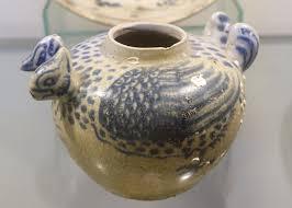 file pot shaped like mandarin duck white glaze ceramic with