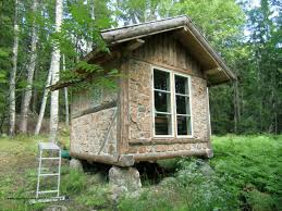 hillside cabin plans relaxshackscom thirteen tiny dream log cabins and a floating log