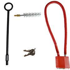 amazon com glock hard gun case new version w brush and rod