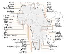 africa map 54 countries africa wannadive net world dive site atlas