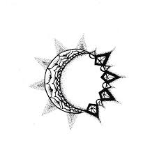 half moon and meaning 1000 geometric tattoos ideas