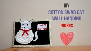 cotton swab kitty cat craft creative indian arts 19 youtube