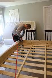 Make Your Own Platform Bed Frame Diy Build A Bed Upholstring The Platform Master Bedroom Redo