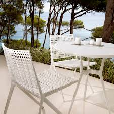 white outdoor table and chairs designer garden furniture for outdoor living dining rooms archi