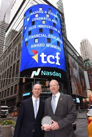 tcf receives innovation in financial education award presented by