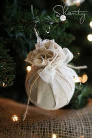 easy classic no sew diy ornaments made from upcycled