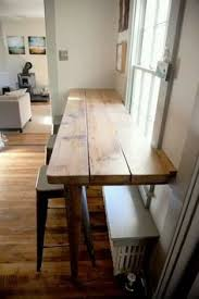 Kitchen Bar Table Ideas Breakfast Bar Along Empty Kitchen Wall Pass Through Pinterest