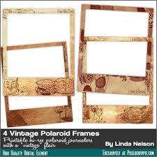 free 4 vintage paper photo polaroid frames hi res pngs