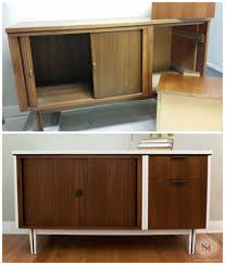 mcm furniture mid century modern buffet restyling salvaged inspirations