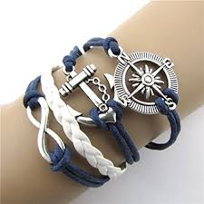 anchor bracelet charm images Riuda hot infinity love anchor compass leather charm jpg