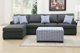 Sectional Sofa Pieces Poundex F7992 3 Pieces Slate Black Sectional Sofa Set