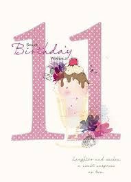 sundae 11th birthday card birthday age
