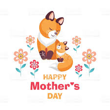 mothers day card with foxes stock vector art 664537912 istock