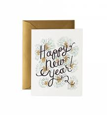 new year new address cards happy new year greeting card by rifle paper co made in usa