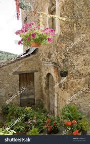 calascio laquila abruzzi italy houses plants stock photo 19608877