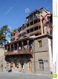 traditional georgian architecture in metekhi historic neighborhood