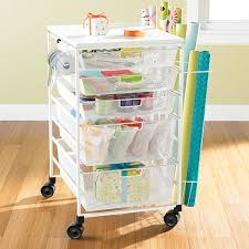 gift wrapping storage gift wrap cart white elfa mesh gift wrap cart the container store