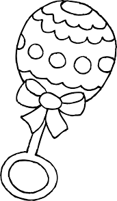 baby rattle coloring page free clip art