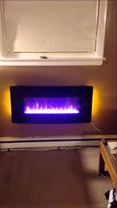 Electric Wallmount Fireplace Muskoka Electric Fireplace Youtube