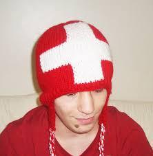 Flag Red With White Cross Switzerland Swiss Flag Hat In Red White Greek Cross Flag