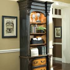 Bookcase With Filing Cabinet Hooker North Hampton Lateral Filing Cabinet With Bookcase Hayneedle