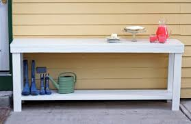 running with scissors outdoor console table