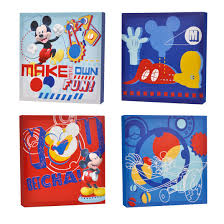toddler wall decor walmart disney mickey mouse pack canvas wall art