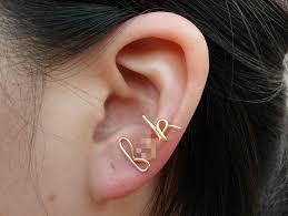best cartilage earrings gold wire f k earring cartilage earring ear cuff