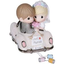 precious moments we join and hearts wedding cake topper