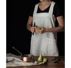 Designer Kitchen Aprons by Pinafore Rough Linen 100 Linen Pinafore Apron