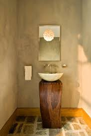 modern pedestal sink bathroom contemporary with black walls