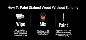 how to paint stained wood without sanding or priming u2013 latex agent