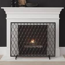 corbett bronze fireplace screen crate and barrel