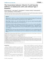 the association between vitamin d and vascular stiffness in