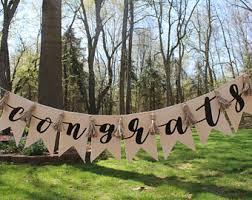 congratulations wedding banner congrats banner etsy