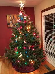 white christmas tree with multicolor lights colored lights christmas tree christmas lights decoration