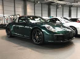 porsche 911 dark green jet green metallic 991 2 porsche 911 targa 4 with brown roof looks