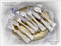 puiforcat beautiful antique french sterling silver fish flatware