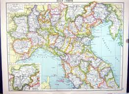 Map Of Naples Italy by 26 Print Cassell Map 1920 Italy Trentino Elba Sicily Naples Plan