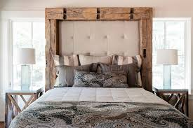 Barn Wood Headboard Padded Headboard In Bedroom Rustic With Homemade Headboard Ideas