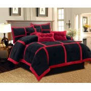 Black And Red Comforter Sets King Black Comforters