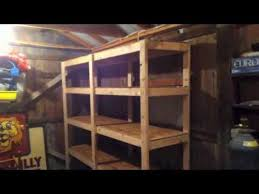 How To Build Wood Storage Shelves Garage by Update On My How To Build Cheap Shelves Garage Storage Youtube