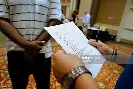 Job Seekers Resume by Inside An Eventbrite Houston Career Fair Ahead Of Initial Jobless